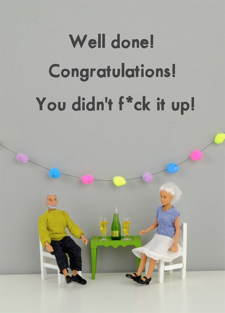 Congratulations You Didn'T Fuck It Up