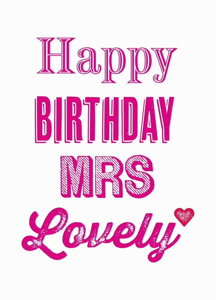 Happy Birthday Mrs Lovely