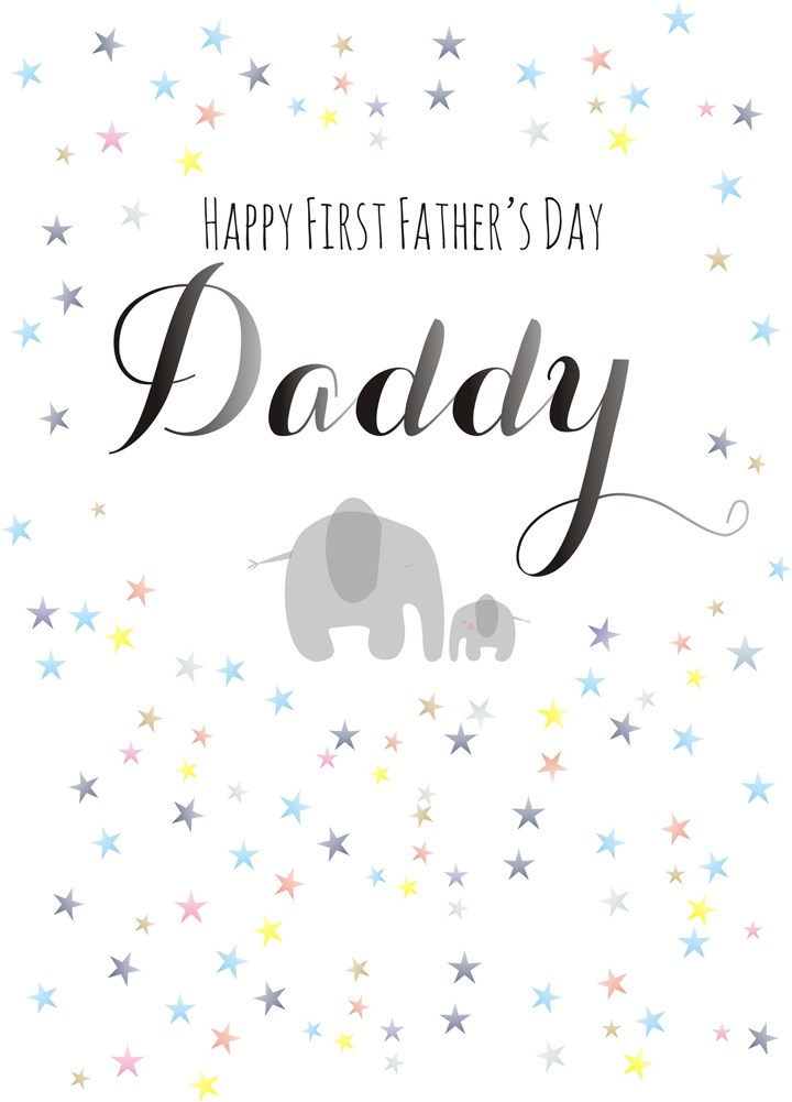 Happy First Father's Day Daddy Elephant