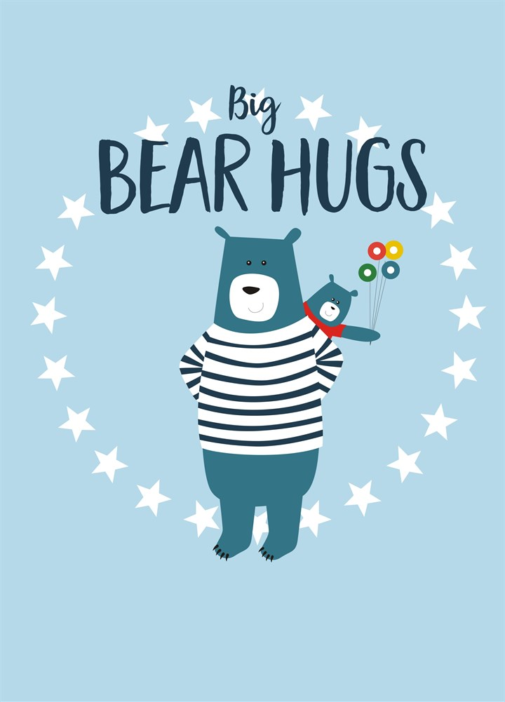 Big Bear Hugs Father's Day Cards