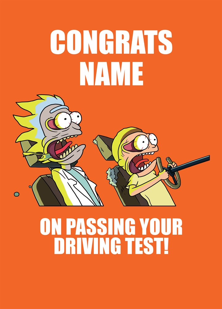 Congrats On Passing Your Driving Test