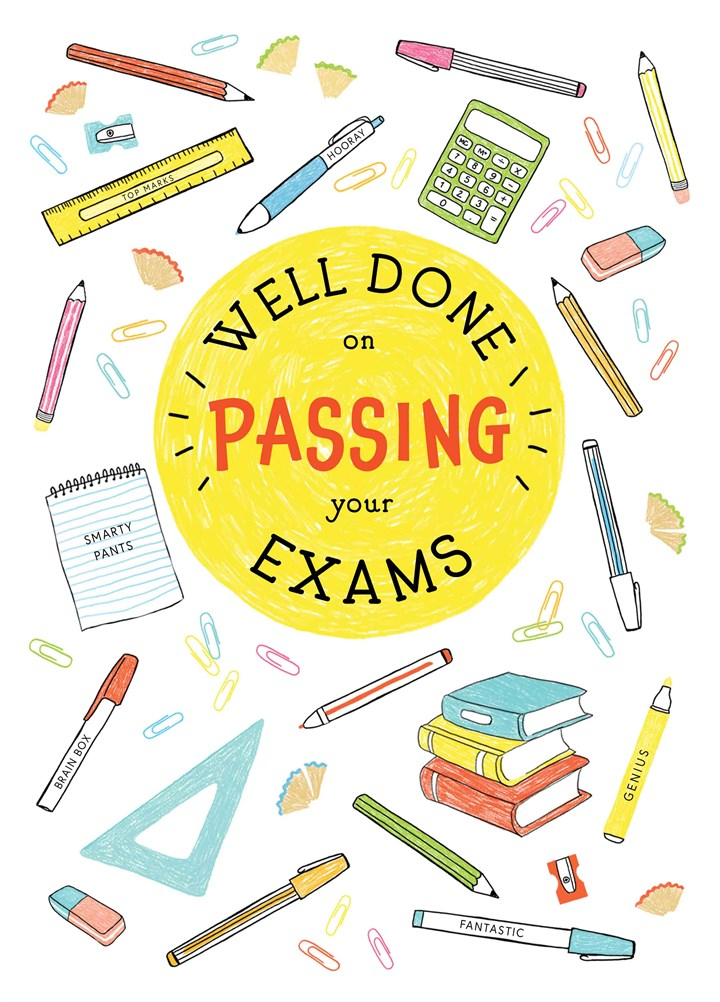 Personalised Congratulations on Passing Your Exams Card Bloody Genius Well Done
