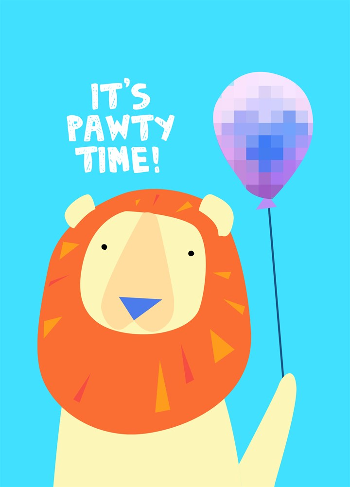 Lion With Balloon