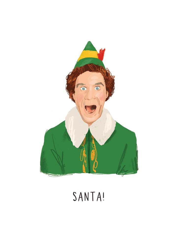 Elf Santa Card