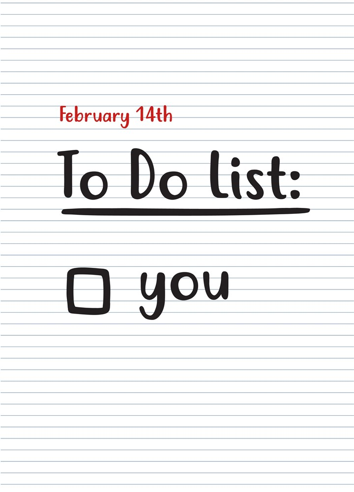 To Do List You
