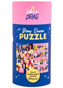 Two puzzles in one? Yasss Queen! 48 iconic drag queen illustrations 500-piece novelty jigsaw It is what? Sickening Dimensions: 36cm high, 56cm wide (completed jigsaw) Queens, queens, queens across the board! We've not seen this many queens in one place since DragCon and we're living for it, henny. It's your turn to get to werk and try out a maxi challenge for yourself with this stunning puzzle that's a who's who of drag royalty. Can you spot your favourite queens? This jigsaw is double-sided for double the fun and double the queens! Test your knowledge with one side of queen illustrations and another featuring their famous quotes, reads and catchphrases. A must-have gift for any RuPaul's Drag Race fan and great boredom-buster to while away the hours in Lockdown... Cards and gifts are sent separately. View our Delivery page for more details on Gift processing and delivery times. New In Lockdown Gifts Games & Fun Most Popular