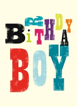 Send this colourful Art File birthday card to your favourite birthday boy?
