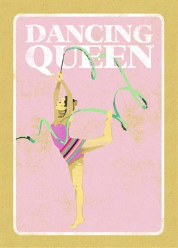 Get in the Olympic spirit with this sporting themed card. This rhythmic gymnast dancing queen is one of our great summer everyday cards by Art File.