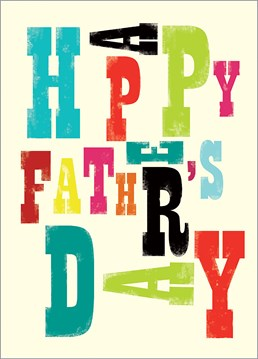 Send this brilliant Art File Father's Day card for to your dad, just say it how it is. No more no less.