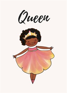 Empower a queen to take on the world and put a smile on her face with this cute Afritistic design.