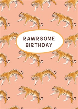 Have a totally awesome birthday with this card designed by Alicorn Cards.
