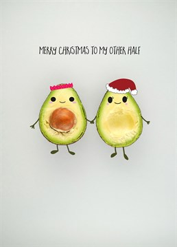 Merry Christmas To My Other Half, Christmas Card by Bold and Bright. Avo great Christmas with this pun-derful Christmas card! Perfect for your other half at Christmas time!