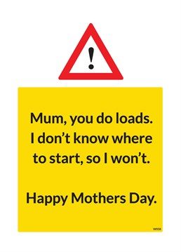 Your Mum does loads for you, but do you know exactly what she does? If you don't, your in luck, this Brainbox Candy card will do it for you!