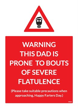 Say happy farters day with this card from Brainbox Candy, especially if your Dad is prone to making a nasty smell!