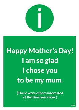 Show your Mum that you're a highly sought after child with this Mother's Day card by Brainbox Candy.
