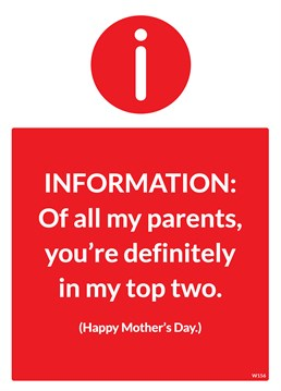 Let your Mum know that she is definitely in the top two of parents with this Brainbox Candy card.
