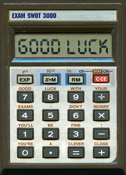 Say Good Luck with this calculator card from Brainbox Candy, a card to make sure they will do well in their exams!