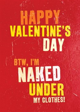 Leave it up to their imagination with this saucy card from Brainbox Candy.