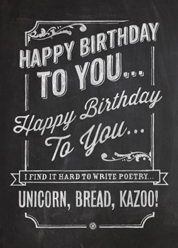 Um... Maybe just stick to what you know. Say many happy returns with this great Brainbox Candy card.