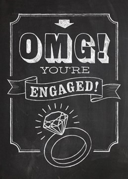 WTF they're getting married. A fantastic engagement card by Brainbox Candy for an excited couple.