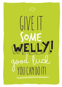 You Can Do It! Get Motivation with this great card by Brainbox Candy.