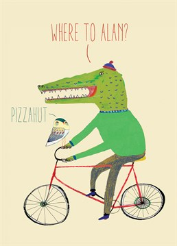 Perfect for any pizza fiend with a woolly hat and a Fixie bike. Send this Brainbox Candy card on any occasion.