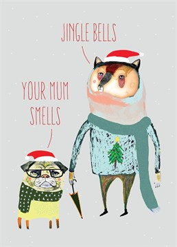 This hilariously insulting Christmas card by Brainbox Candy is perfect for anyone who can take a joke!