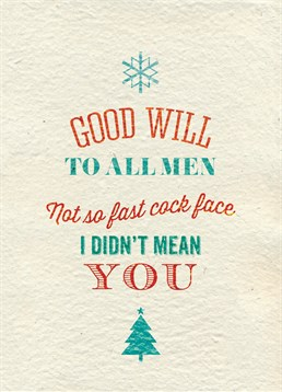 Need a card for a man you know but you want to express your true feelings? Send this Brainbox Candy card at Christmas time.