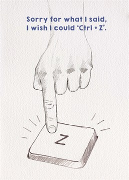 We all have mistakes that we made in our past that we wish we could Ctrl + Z away but we can't. We can however gift this Brainbox Candy card as an apology.