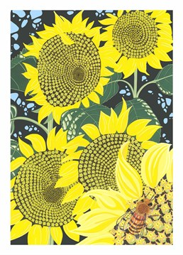 This Sunflower card by Bird is great as a birthday card or even a cool thank you card.