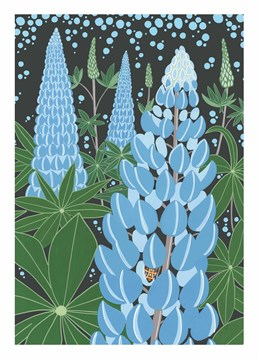 This Bird card is great for all those who love blue lupins. Say happy birthday in style.