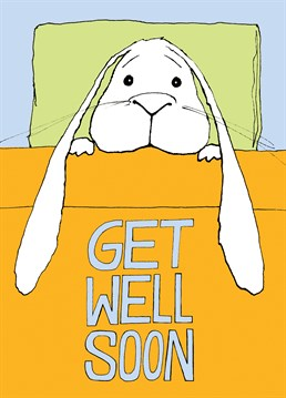 This cute get well card by Cardinky is perfect for a friend or family member who's feeling a bit poorly.