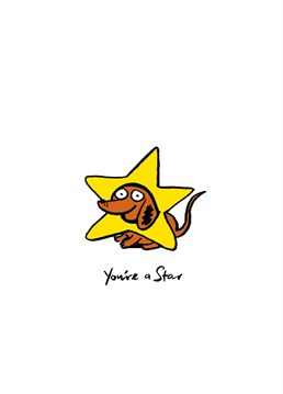Send this adorable dog star to congratulate someone and help guide them into their future! Designed by Cardinky.