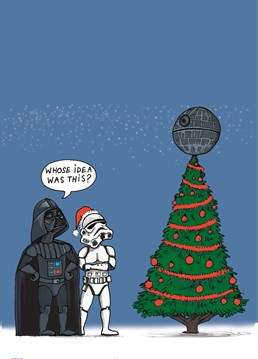 How in the Force did the Death Star get up there? This Cardinky Christmas card is perfect for any Star Wars fanatic.