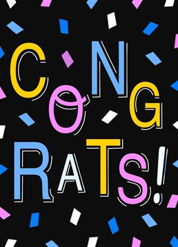 Funky illustrated congratulations card