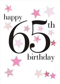 This birthday card by Claire Giles is all you need to make her 65th birthday extra special.