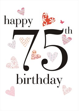 This birthday card by Claire Giles is all you need to make her 75th birthday extra special.