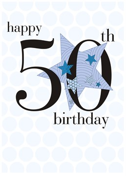 This birthday card by Claire Giles is all you need to make his 50th birthday extra special.