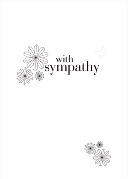 This elegant sympathy card by Claire Giles is a simple way to send you regards.