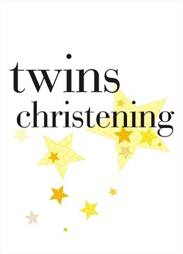 This bright and simple Claire Giles card is perfect for sending your wishes for the twins christening.