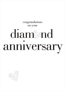 Send this bright and elegant anniversary card by Claire Giles to wish the couple a happy day.