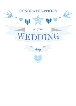 This card by Claire Giles is perfect for sending your wishes to the happy couple.