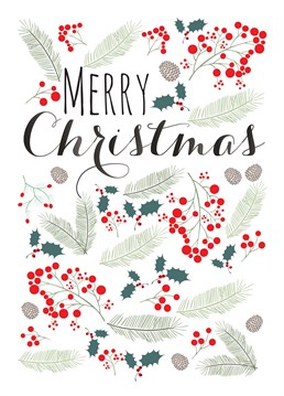 Know someone who loves the look and feel of the festive season? Then why not wish them a holly jolly Christmas with this cute Claire Giles card.