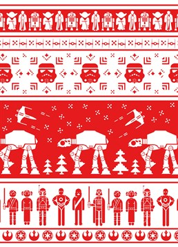 This Christmas card by Scribbler is great for those who love Star Wars.
