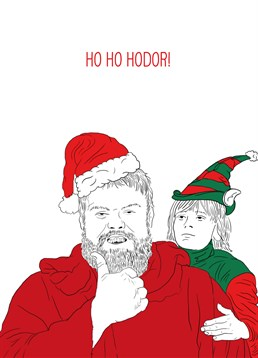 Hodor is delivering the presents this year with this awesome Scribbler card. Perfect for a Game of Thrones fan.