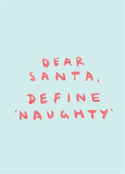 Have you got a friend who is guaranteed to be on Santa's naughty list? This Scribbler Christmas card is perfect for them.