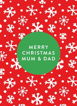This lovely Scribbler Christmas card is perfect to send to your Mum and Dad over the festive season!