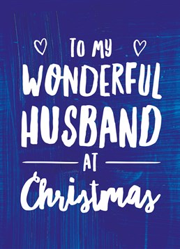 This lovely Scribbler card is perfect to send to your husband this Christmas.