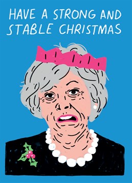 This Scribbler card is perfect to any person who's aware of our political climate! Wish them a strong and stable Christmas.
