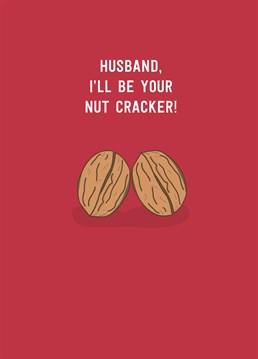 Ready your husband to be whipped into shape and show him who's boss with this nutty Christmas design by Scribbler.